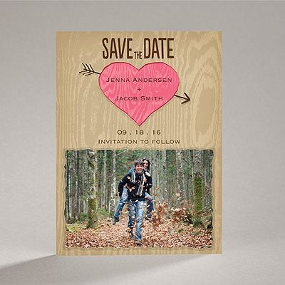Natural Look - Posie Pink - Save the Date Magnet...tooo cute