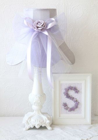 Lavender Dupioni Silk & Tulle Table Lamp | Jack and Jill Boutique