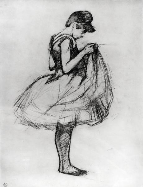 Henri de Toulouse Lautrec-drawing of a dancer 1889