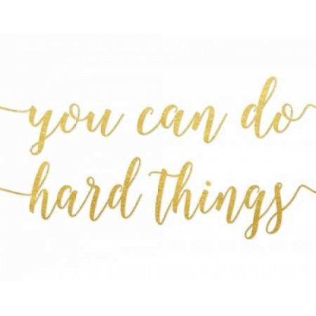 You Can Do Hard Things Gold Canvas Art - Tara Moss (22 x 28)