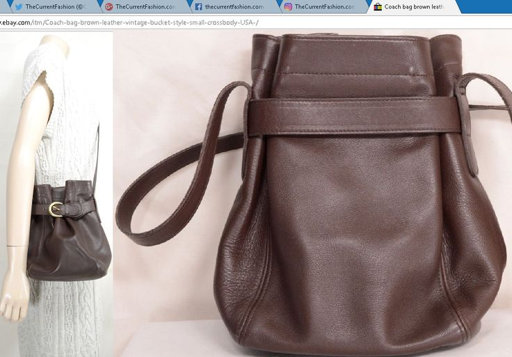 Coach bag brown leather vintage bucket style small crossbody USA ~ http://stores.ebay.com/thecurrentfashion?_dmd=2&_nkw=Coach , http://stores.ebay.com/thecurrentfashion/Bags-/_i.html?_fsub=10888362012   #TheCurrentFashion #eBay #eBayFashion #style #fashion #Coach #Coachbag #Coachbucket #Coachsatchel #coachNYC #CoachSpring2017 #CoachHouse #handbag #handbags #bag #bags #bucketbag #satchel #satchelbag #leather #leatherhandbag #leatherbag #leatherbucketbag #leathersatchel #brownleather…