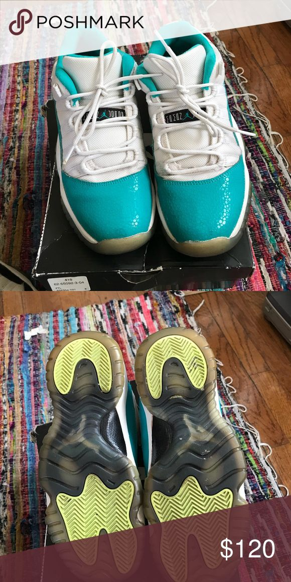 Aqua low 11's size 6.5Y Jordan aqua low 11's Jordan Shoes Sneakers