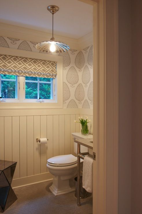 Small powder rooms joy studio design gallery best design for Best wallpaper for bathrooms