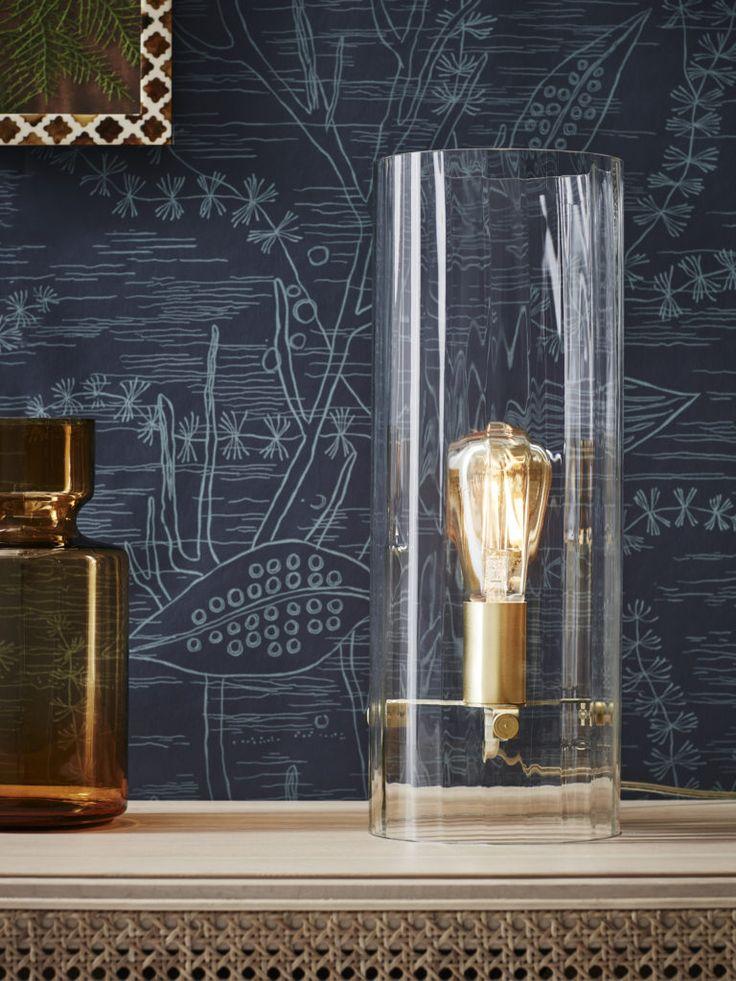 Classy bordslampa från Markslöjd. Detaljer i mässing, med skärm i glas. #mässing #brass #markslöjd #bordslampa #lamp #interior #interiör #inspiration