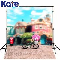 200Cm*150Cm Backgrounds Bicycle Bike Balloon Flying Balloon Buggies Sell Balloons Mail Box Photography Backdrops Photo Lk 1022