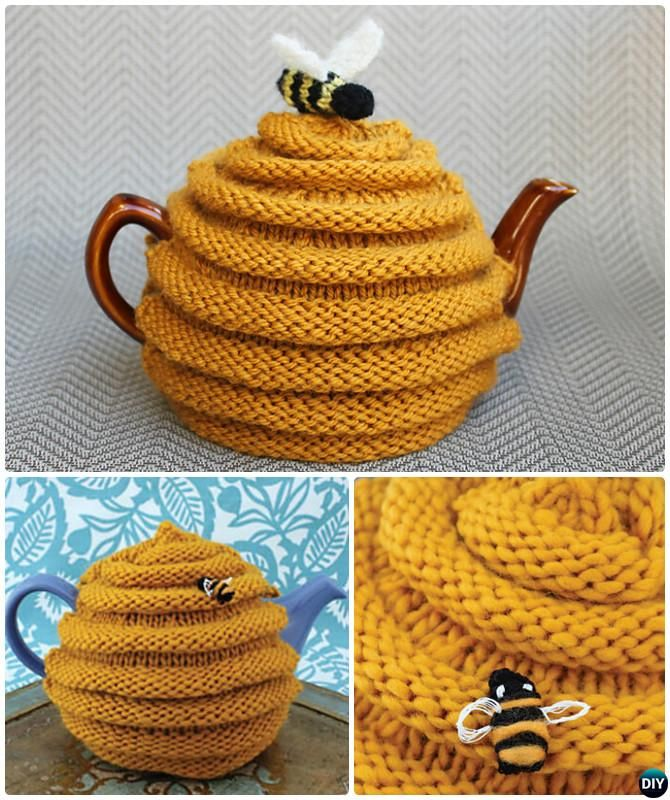 Knit Beehive Tea Cozy Free Pattern-20 Crochet Knit Tea Cozy Free Patterns