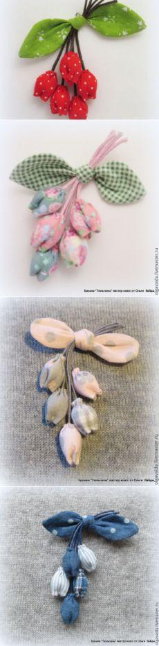 Создаем текстильную брошь «Тюльпаны» - Ярмарка Мастеров - ручная работа, handmade