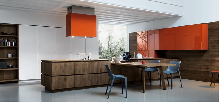 Cloe - Vegetable oil and wax finished Knotted oak Silk-effect white lacquer - http://cesar.it/en/cucine/cloe/
