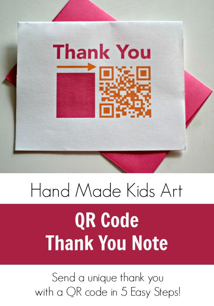 Send a unique kids video thank you with a QR Code in 5 Easy Steps from Hand Made Kids Art.