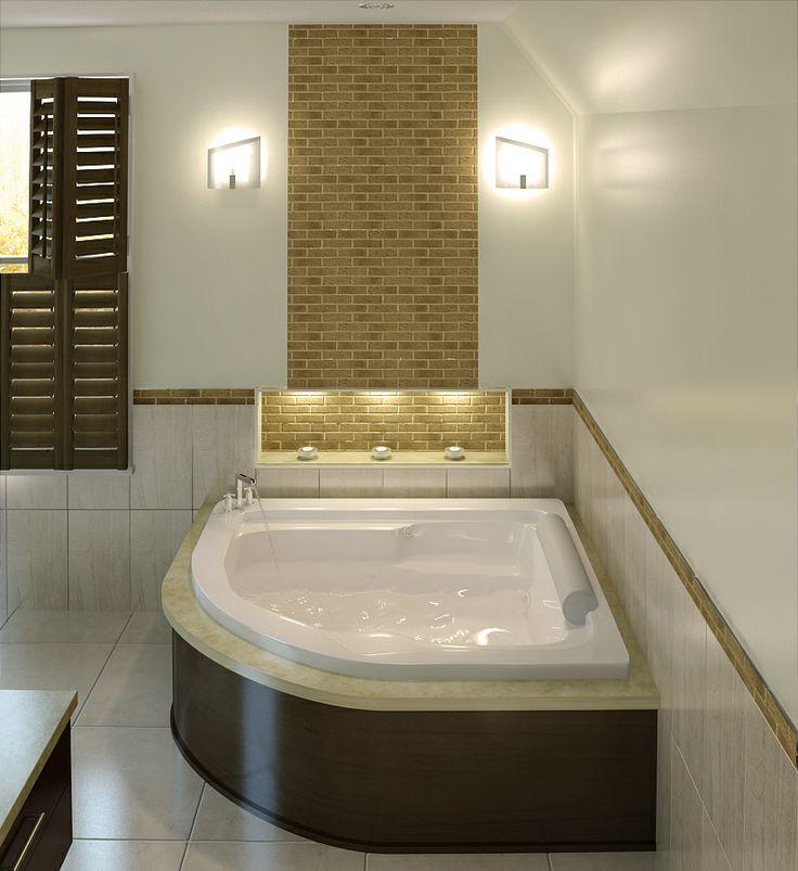 The Luxury Model 7260 - 6' Acrylic Corner Bathtub