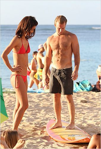 Photo Grace Park, Scott Caan
