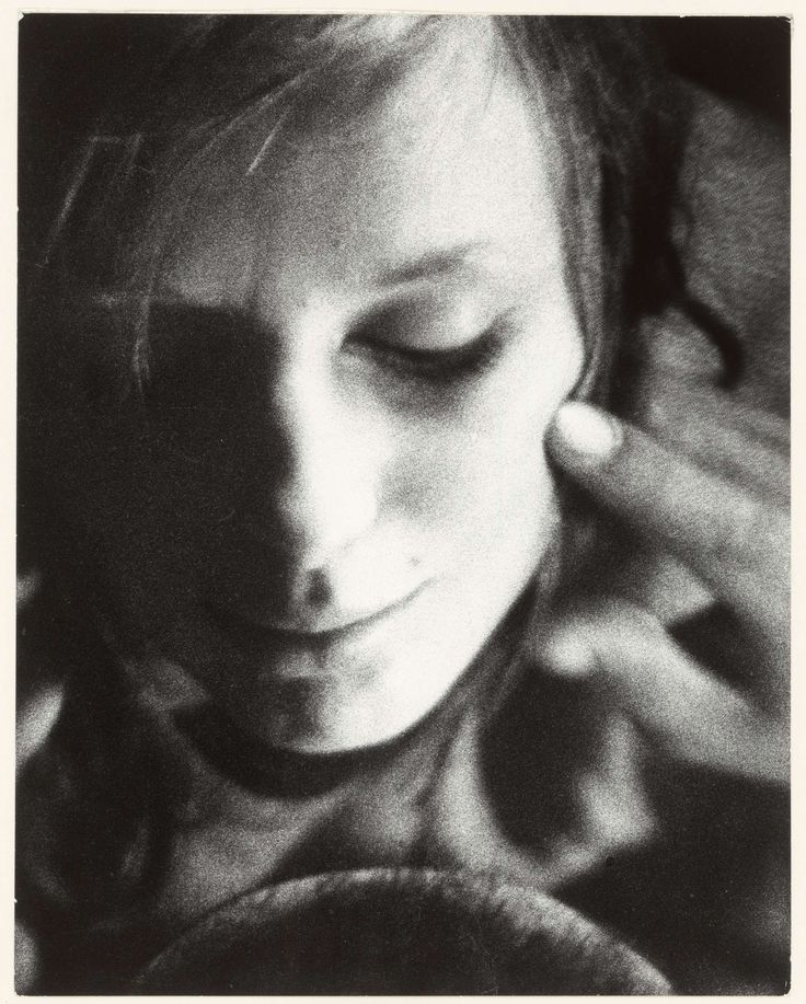 Close-up van een vrouw, Sanne Sannes, 1965 - 1967