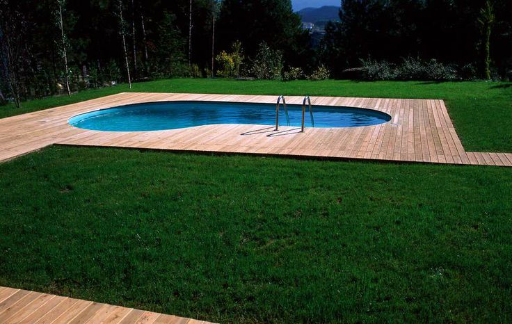 Les 46 meilleures images propos de piscines sur for Autoconstruction piscine bois