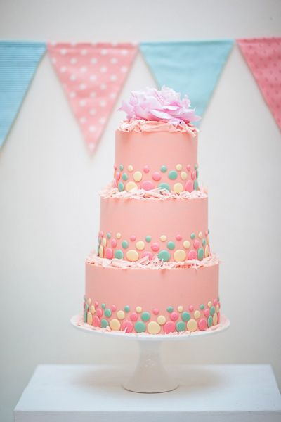Super pretty pink tiered cake.: Pastel Cake, Shower Cake, Wedding Cakes, Beautiful Cake, Birthday Cakes, Baby Shower, Pink Cake