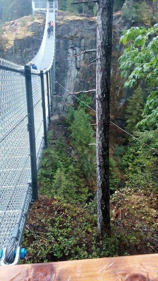 Elk Falls suspensin bridge Campbell River BC 2015