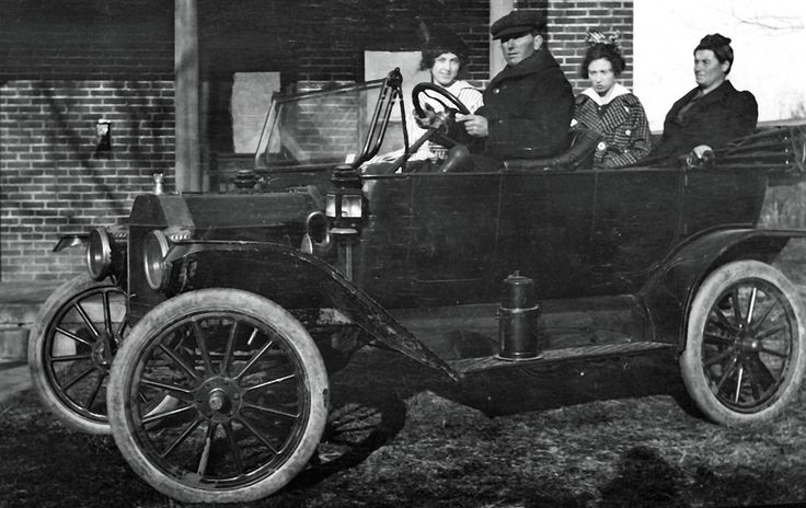 Family Car Oklahoma during 1914 or 1915. The car appears
