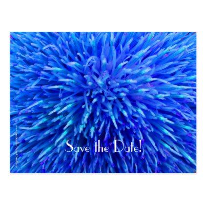 #savethedate #postcards - #Save the Date 90th Birthday Party Blue Abstract Postcard