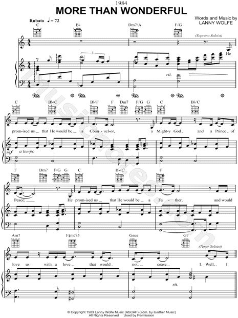 80 best sandi patty images on pinterest sandi patty christian print and download more than wonderful sheet music by sandi patty arranged for voice 1 or fandeluxe Gallery