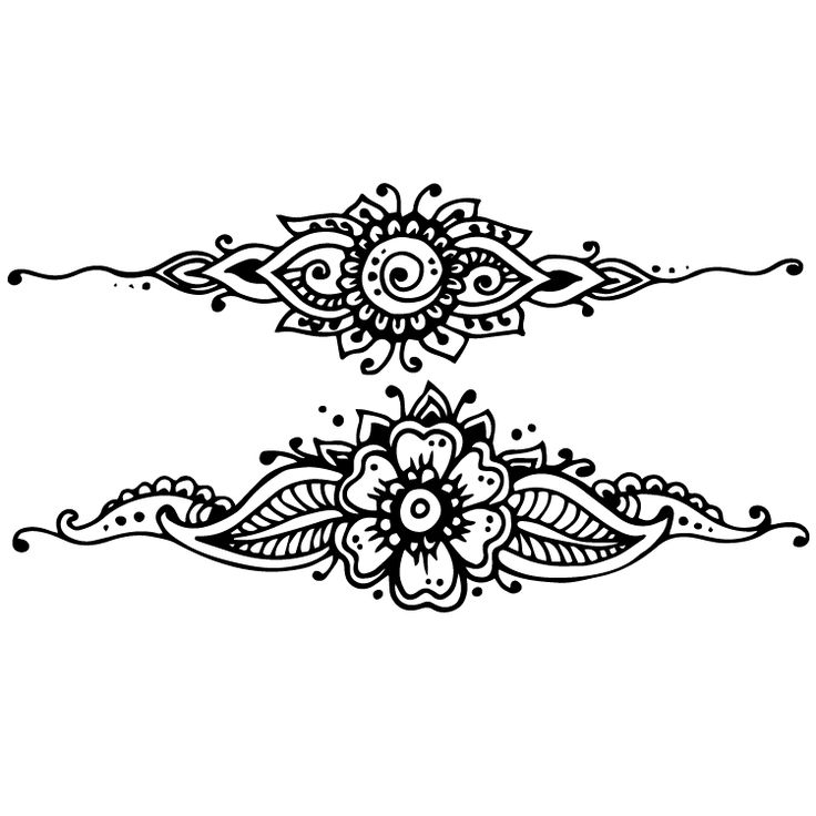 Henna Design Temporary Tattoos #632