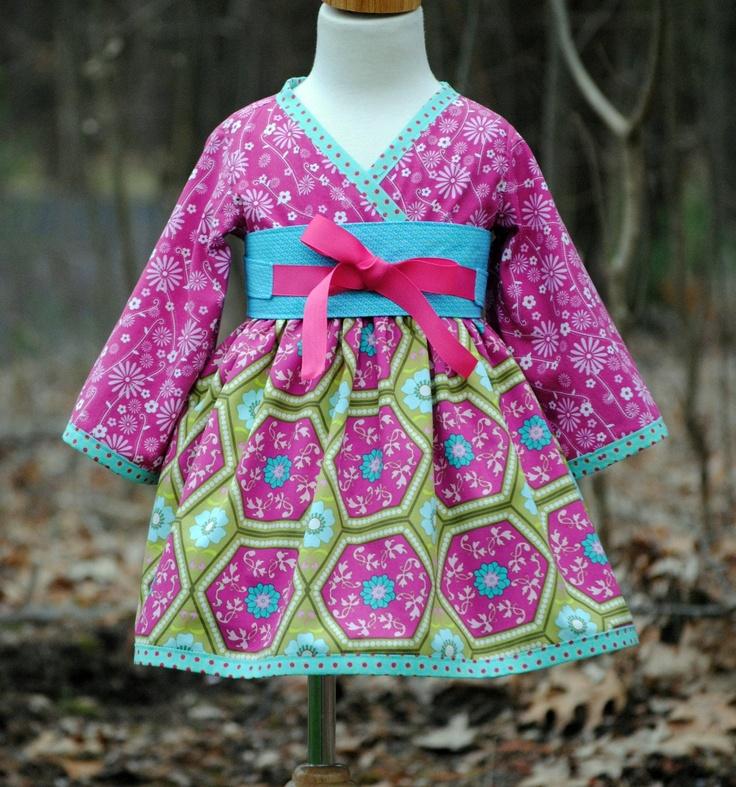 Girls Kimono Dress with Obi Girl Dresses Children