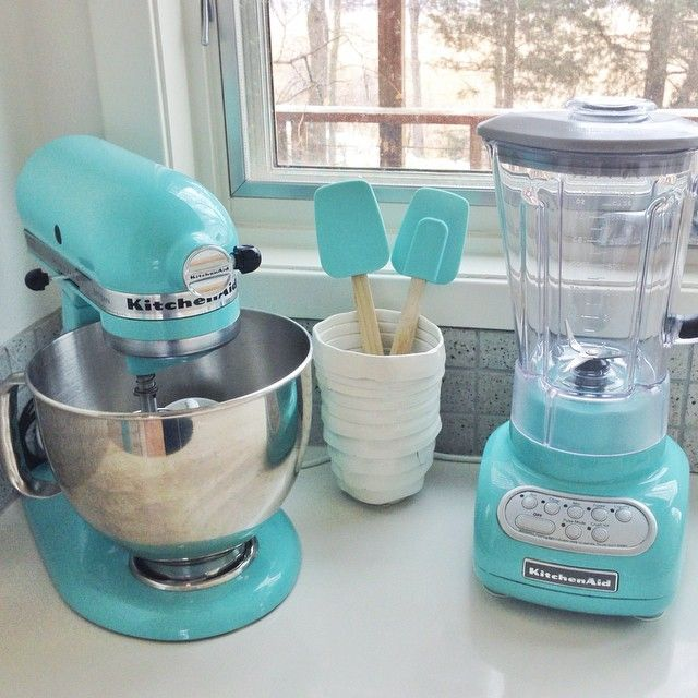 My Favorite Corner Of Our Kitchen So Many Possibilities Turquoise Kitchenaid