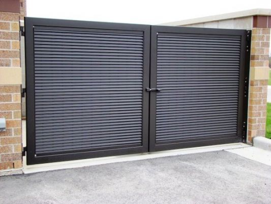 Sheet Metal Fence | DUMPSTER ENCLOSURE GATES
