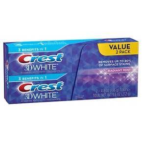 Crest 3D White Radiant Mint Whitening Toothpaste - 4.8oz : Target