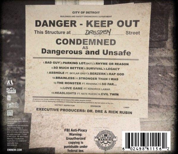 Tracklistings: Eminem's 'The Marshall Mathers LP 2′