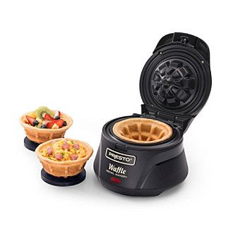 Make a delightfully different kind of waffle bowl with the Presto Belgian Waffle Bowl Maker.