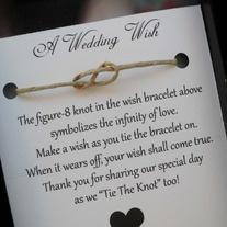 $1.60 Set of 50 Wedding Favor Wedding Wish Bracelet - Personalized