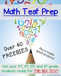 Check out the 40+ math test prep freebies for 3rd, 4th, 5th, and 6th grade here. You won't be disappointed when your students rock the big test!