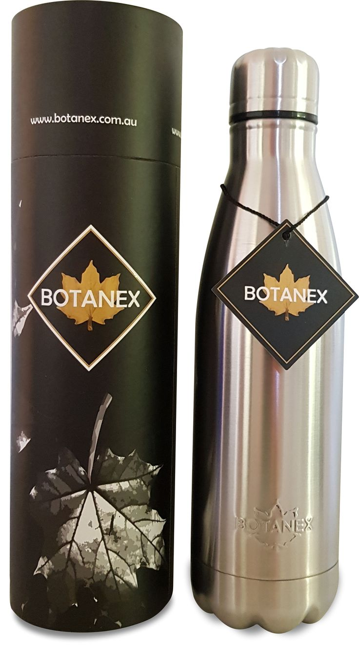 BOTANEX PREMIUM INSULATED BOTTLE - PLATINUM The Classic Drink bottle embossed with the iconic Botanex Leaf. Crafted from stainless steel with double insulation to safeguard your hot or cold drink. Packaged for smart gifting, or simply to protect your water bottle from damage when not in use. https://www.botanex.com.au/collections/botanex-hydration