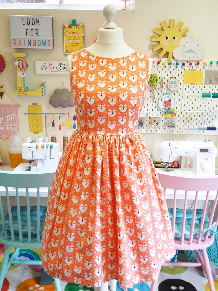 Smile & Make - COMING SOON: Made To Order - Coral Foxes Picnic Dress