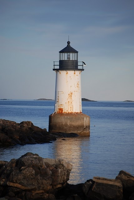Winter Island Light - Fort Pickering - in Salem Massachusetts