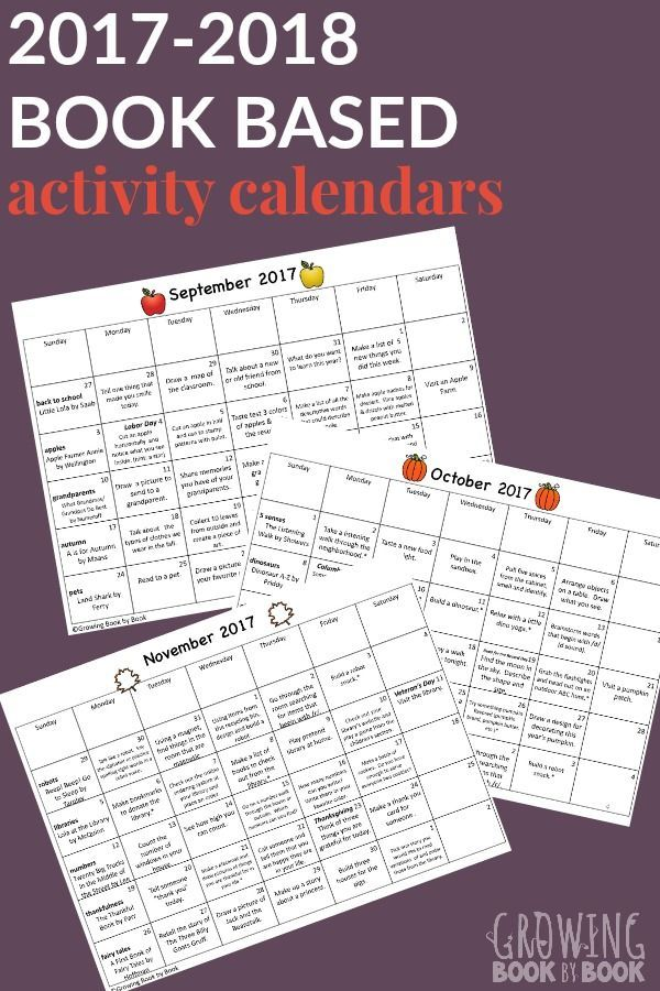 Calendar Lesson Ideas : A year of books and activities reading for kids