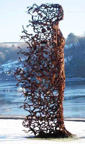 Fantastic recycled sculpture by Penny Hardy..
