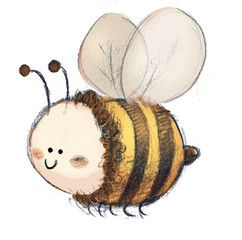 ilustracion de abeja para niños
