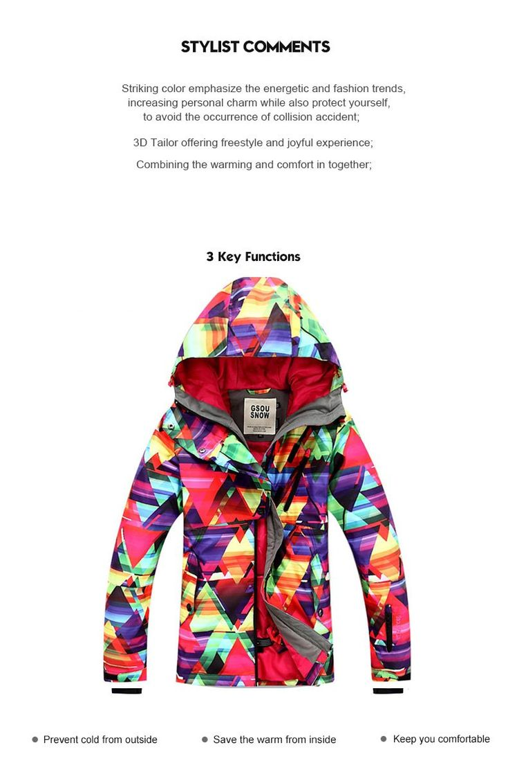 Cheap Gsou Snow Colorful Waterproof Windproof Thermal Ski/Snowboard Jacket For Women Online