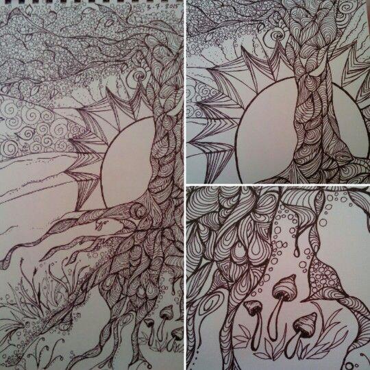 Tree of life Peace, light, freedom (Ink pen )