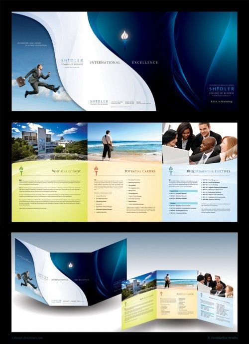 30 Contoh Desain Brosur Lipat Tiga | 5_Trifold-Brochure-Shidler-500x689