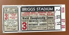 1945 World Series Ticket Detroit Tigers vs Chicago Cubs Billy Goat Curse