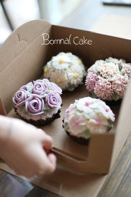 Ƹ̴Ӂ̴Ʒ Sweet Ƹ̴Ӂ̴Ʒ Little Cakes -  꽃피는 봄날 케이크 [BOMNAL CAKE] [광진, 송파, 강동, 남양주, 앙금플라워 떡 케이크] 베이직 ...