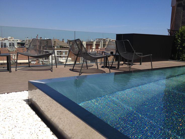 17 mejores im genes sobre piscinas de acero inoxidable en - Piscina terraza atico ...