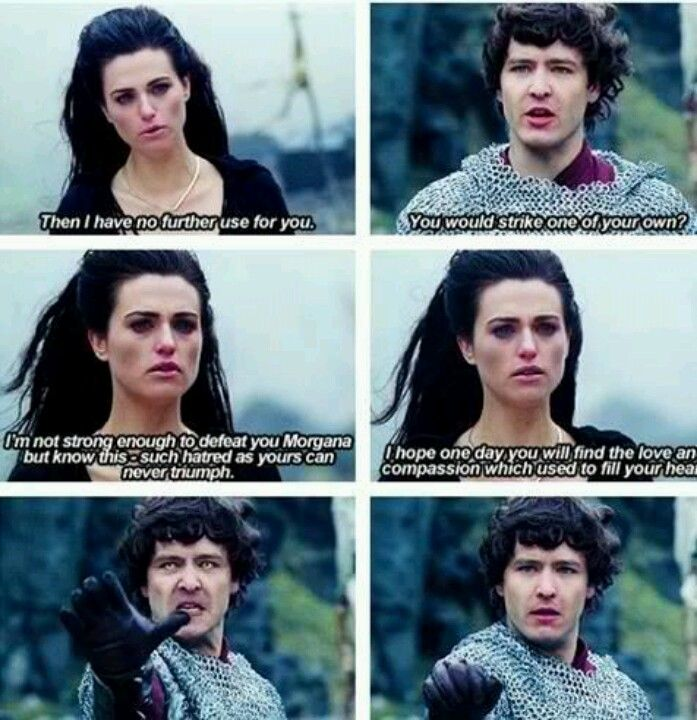 """These line always make me sad because Mordred was one of the few who still saw a hope for Morgana."""