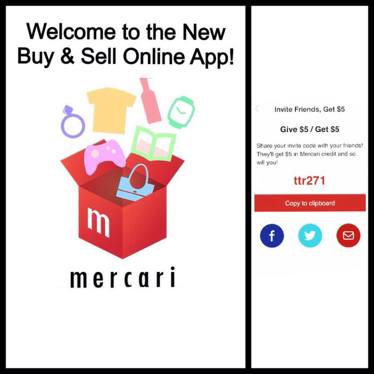 to the New Buy & Sell Online App Mercari. Invite