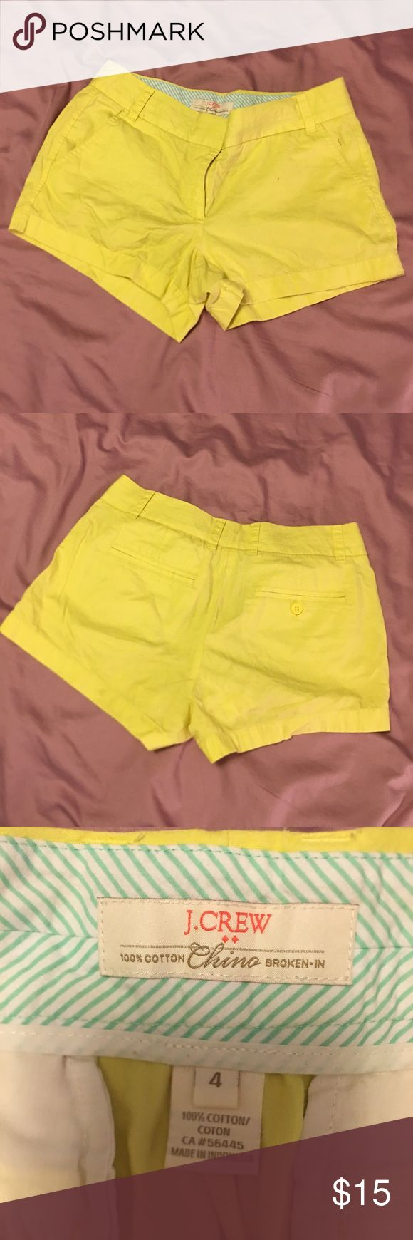 J.Crew Neon Yellow shorts. Size 4 ✨CLOSET CLEAROUT✨J.Crew Neon Yellow shorts. Size 4. J. Crew Shorts