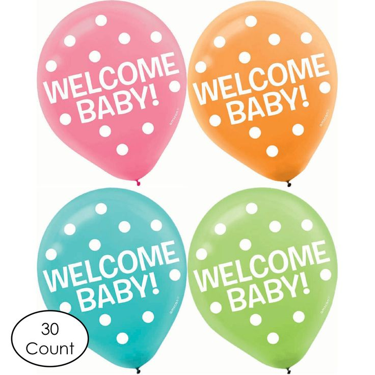 Welcome Baby Shower Balloons, Set of 30