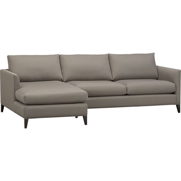 Klyne 2 piece sectional left arm chaise right arm for 2 arm chaise lounge