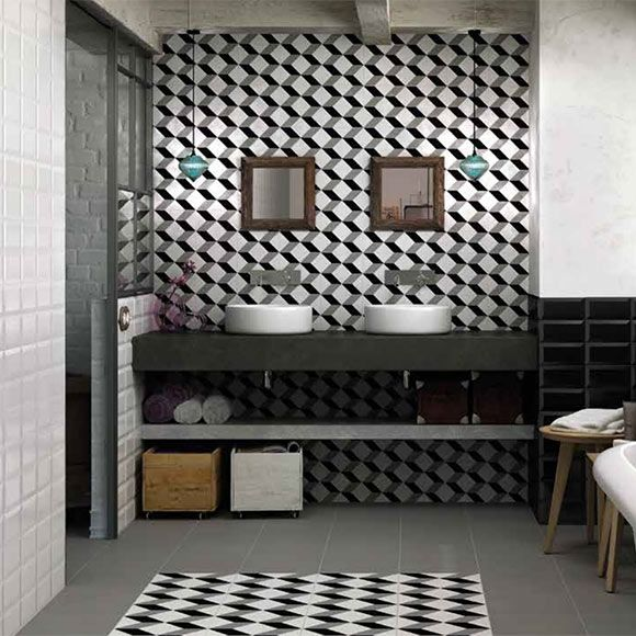 aparici vanguard cube 20x20 carrelage 1er choix imitation carreaux ciment 35 95 m2 salle de. Black Bedroom Furniture Sets. Home Design Ideas