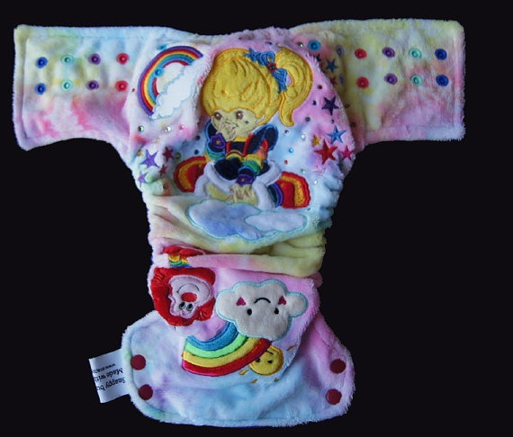 Custom made side snap modern cloth nappy by SnappBumsNappies, $45.00